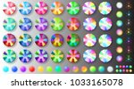 set of colorful big and small... | Shutterstock .eps vector #1033165078