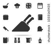 knife holder icon. set of chef...   Shutterstock .eps vector #1033165435