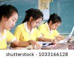 phatthalung  thailand february...   Shutterstock . vector #1033166128