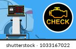 vehicle emission testing car... | Shutterstock .eps vector #1033167022
