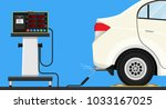 vehicle emission testing car... | Shutterstock .eps vector #1033167025