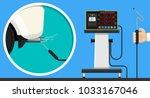 vehicle emission testing car... | Shutterstock .eps vector #1033167046