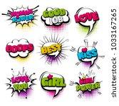 oops  girl power love set hand... | Shutterstock .eps vector #1033167265