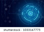blue technology circle and...   Shutterstock .eps vector #1033167775