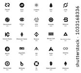 different cryptocurrency... | Shutterstock .eps vector #1033168336