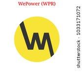 vector wepower  wpr  digital...   Shutterstock .eps vector #1033171072