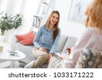 female psychologyst therapy... | Shutterstock . vector #1033171222
