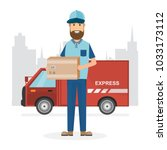 delivery concept. fast delivery ... | Shutterstock .eps vector #1033173112