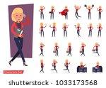 set of office woman worker... | Shutterstock .eps vector #1033173568