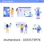 office concept business people... | Shutterstock .eps vector #1033173976