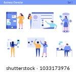 office concept business people vector illustration flat design | Shutterstock vector #1033173976