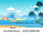 vector illustration seascape...   Shutterstock .eps vector #1033188448