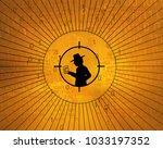 spy shadow figure target ... | Shutterstock . vector #1033197352