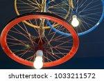unique diy ceiling light ... | Shutterstock . vector #1033211572