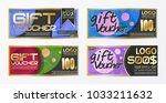 gift certificate voucher coupon ... | Shutterstock .eps vector #1033211632