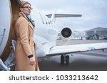 portrait of pensive female... | Shutterstock . vector #1033213642