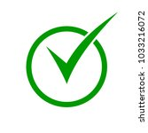 green check mark icon in a... | Shutterstock .eps vector #1033216072