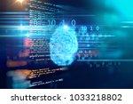 finger print scanning... | Shutterstock . vector #1033218802