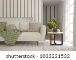idea of white minimalist room... | Shutterstock . vector #1033221532