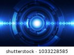 abstract vector blue technology ... | Shutterstock .eps vector #1033228585