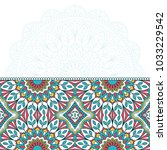 invitation card with mandala.... | Shutterstock .eps vector #1033229542