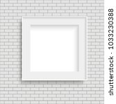 realistic white photo poster... | Shutterstock .eps vector #1033230388