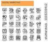 digital marketing   thin line... | Shutterstock .eps vector #1033233412