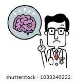 male doctor  brain | Shutterstock .eps vector #1033240222