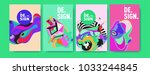 abstract colorful collage... | Shutterstock .eps vector #1033244845