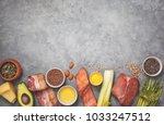 ingredients for ketogenic diet  ... | Shutterstock . vector #1033247512