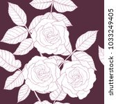 rose pattern by hand drawing... | Shutterstock .eps vector #1033249405