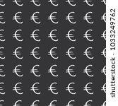 euro sign icon brush lettering... | Shutterstock .eps vector #1033249762