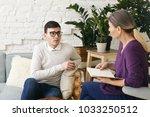 senior woman psychotherapist or ...   Shutterstock . vector #1033250512