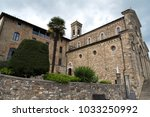 italian cathedral from village... | Shutterstock . vector #1033250992