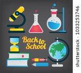 back to school concept. sey of... | Shutterstock .eps vector #1033253746