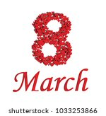 red hearts background with text ... | Shutterstock .eps vector #1033253866