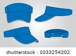 blue sun visor cap for vector ... | Shutterstock .eps vector #1033254202