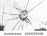 broken glass on bright... | Shutterstock . vector #1033259428