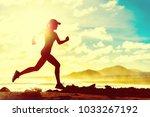 summer fitness healthy active... | Shutterstock . vector #1033267192