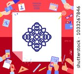 traditional geometric oriental... | Shutterstock .eps vector #1033267846