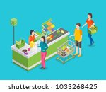 checkout counter pay in store... | Shutterstock .eps vector #1033268425