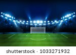 football arena field with... | Shutterstock .eps vector #1033271932
