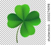 vector four leaf shamrock... | Shutterstock .eps vector #1033274098