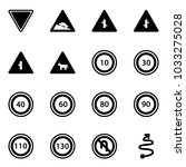 solid vector icon set   giving... | Shutterstock .eps vector #1033275028