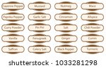 a collection of spice web... | Shutterstock . vector #1033281298