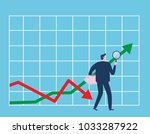 investor. businessman looking... | Shutterstock .eps vector #1033287922