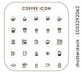 coffee icons 02 | Shutterstock .eps vector #1033292062