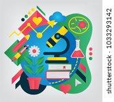 biology. set of illustration... | Shutterstock .eps vector #1033293142