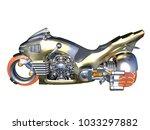 3d cg rendering of a hover bike | Shutterstock . vector #1033297882