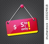 advertising hanging price tag | Shutterstock .eps vector #103329818